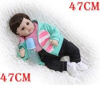 Reborn Girl toddler soft bebe doll reborn 1948cm silicone reborn baby dolls real baby newborn doll for child birthday gift