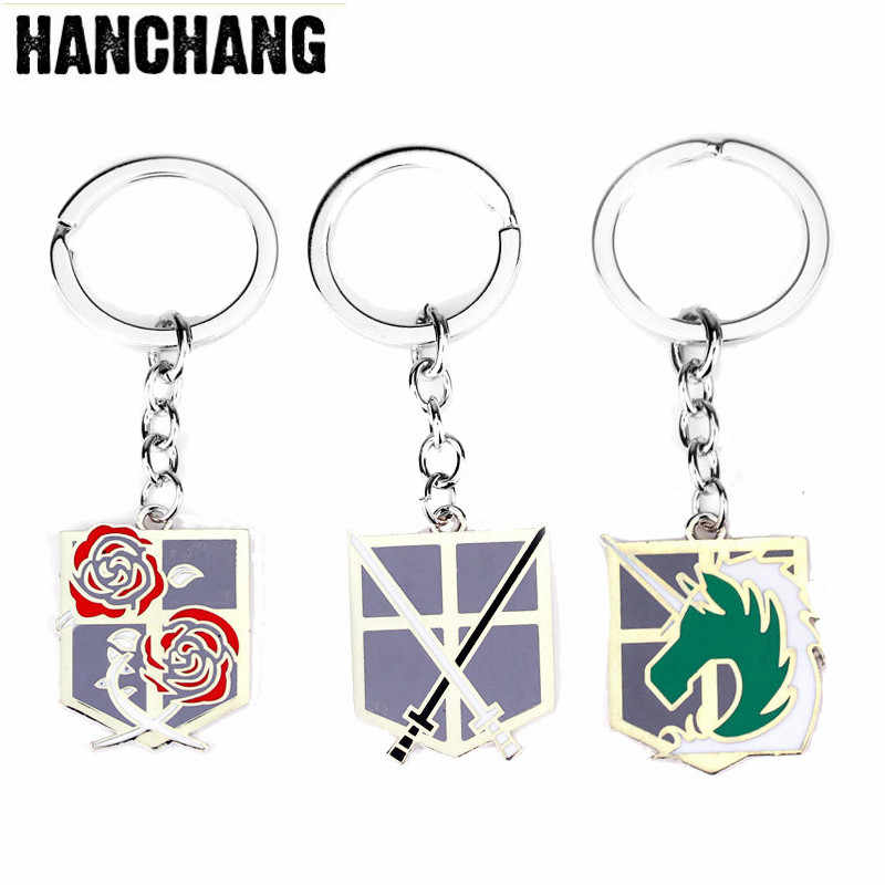 Advance The Giant Attack On Titan Series llavero Swords surprise Corps brazalete descartable parches militares llavero Accesorios