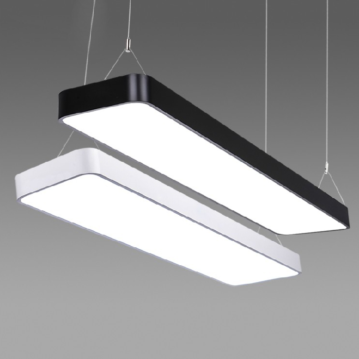Modern office light Pendant Lights simple LED office long strip aluminum rectangular commercial lighting market lamps BG5 modern office light pendant lights simple led office long strip aluminum rectangular commercial lighting market ultra thin lamps