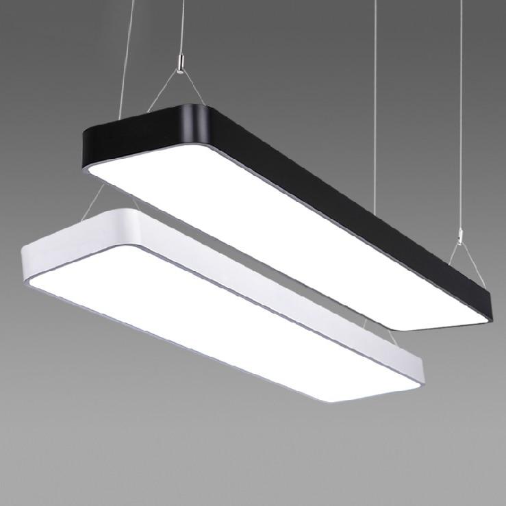 Modern office light Pendant Lights simple LED office long strip aluminum rectangular commercial lighting market lamps BG5 ce emc saa rohs gs ul listed commercial 100w commercial led pendant lights