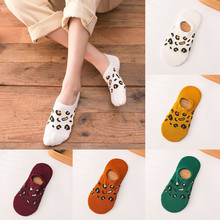 Socks for Women Men Comfortable Leopard Cotton Women Slippers Short Ankle Soft Short Socks Warm Fashion High Quality c0512