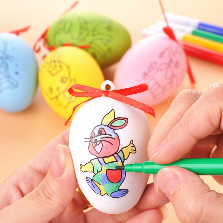 12PCS kids birthday party supply decoration party favor diy colored Easter egg baby shower gift souvenir pinata goody bag