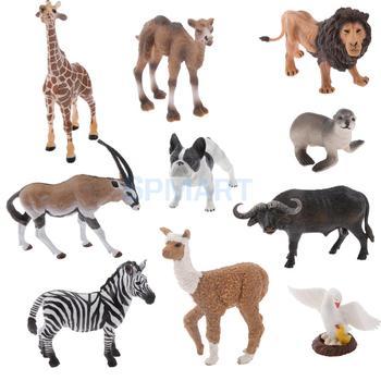 Realistic Wildlife WildFarmZoo Animal Model Figurine Kids Toy Gift figurine