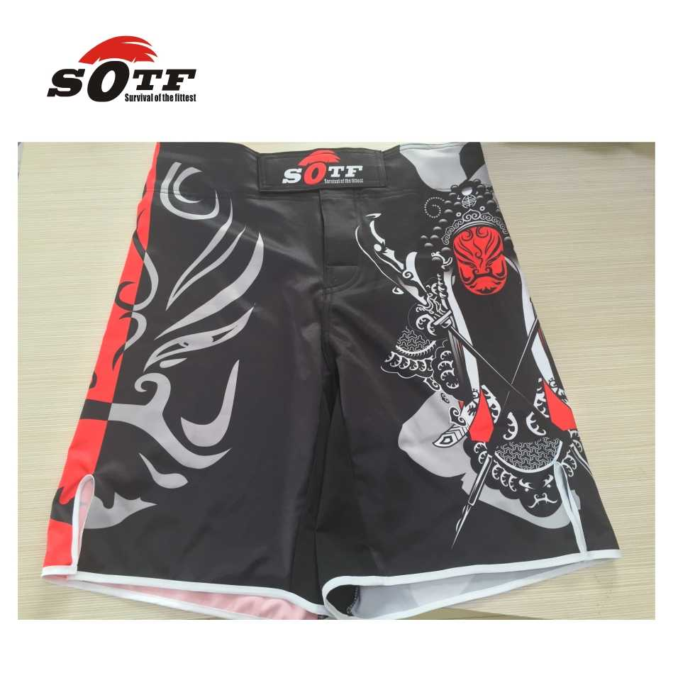 Sotf mma calções de boxe muay thai tigre muay thai kickboxing shorts sanda yokkao brock lesnar luta boxe curto sanda