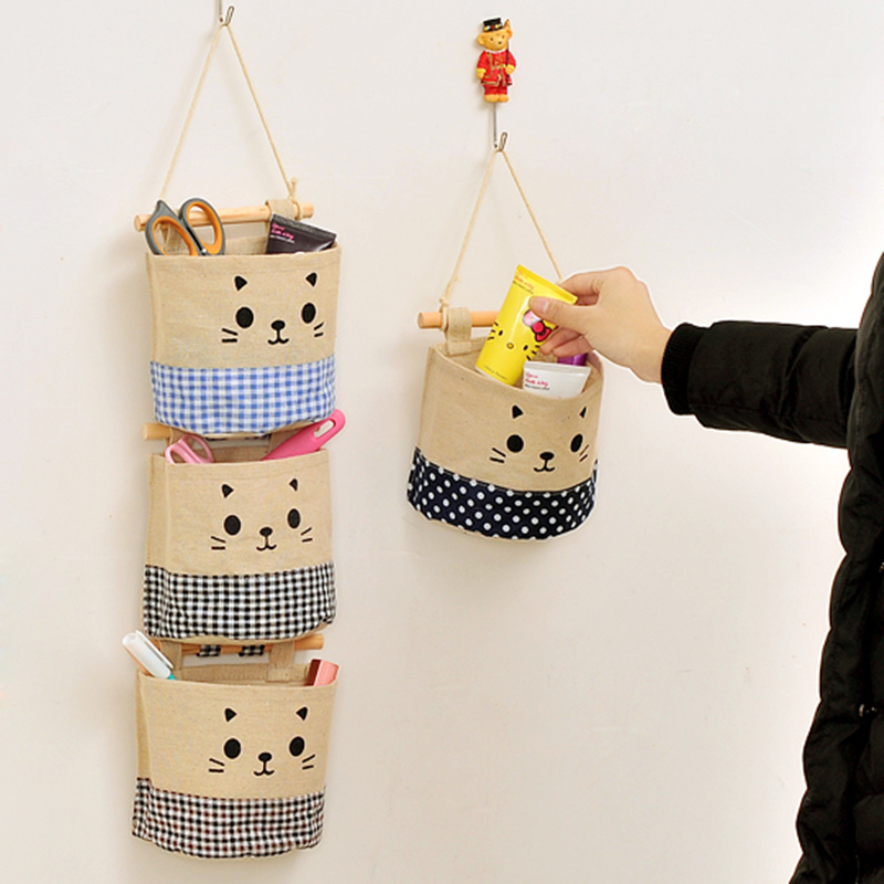 fabric panel wall art diy cut cotton pocket pouch sundry hanging holder storage bag makeup organizer home decor indian hangings uk for nursery