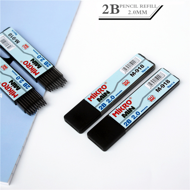 1pc 20mm Mechanical Pencil Refill The Crude Pencil Refills 2b