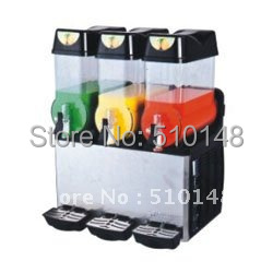 Slush Machine(XJ-3) / Slush Dispenser machine / drink machine / 3 Tank:12Lx3 free ship cold drink machine commercial cylinder hot and cold drink machine fruit juice dispenser beverage machine