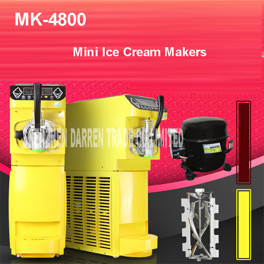 MK 4800 Soft Ice Cream Machine Commercial Small Ice Cream Maker Soft Serve Ice Cream Machine air cooling 500W ,110V and 220V 1PC