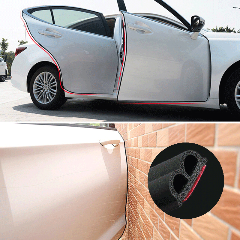 Car Stickers B Type Car Door Seal Strips Noise Weatherstrip Rubber Insulation Windproof For Door Edge Head Front Cover Trunk 11111