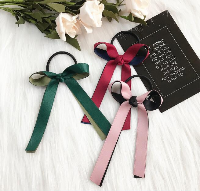 New arrival Women fashion summer bow hair bands hair tie girl's cute rope   headwear