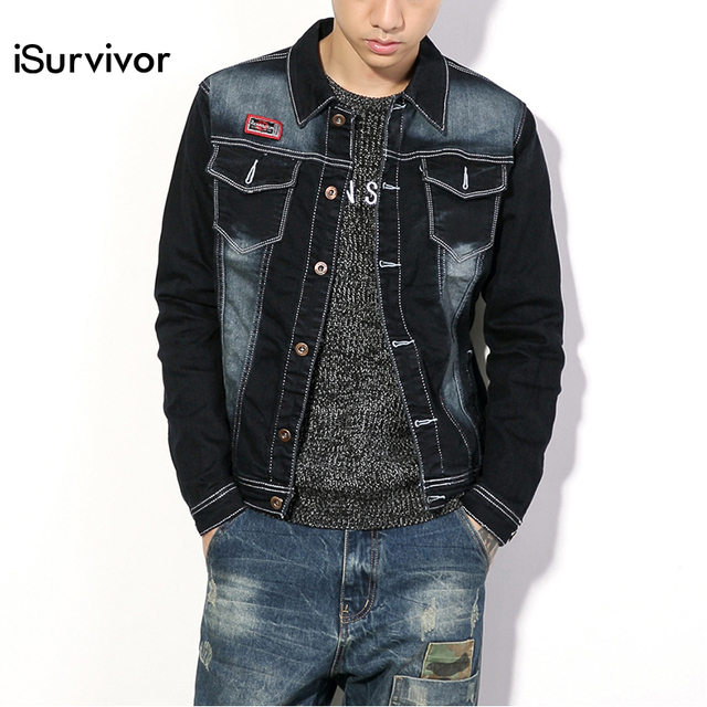 Plus Size 4XL 5XL Men Denim Jackets and Coats Fashion 2016 Men New Denim Coats Casual Slim Fits Male Clothing Good Quality