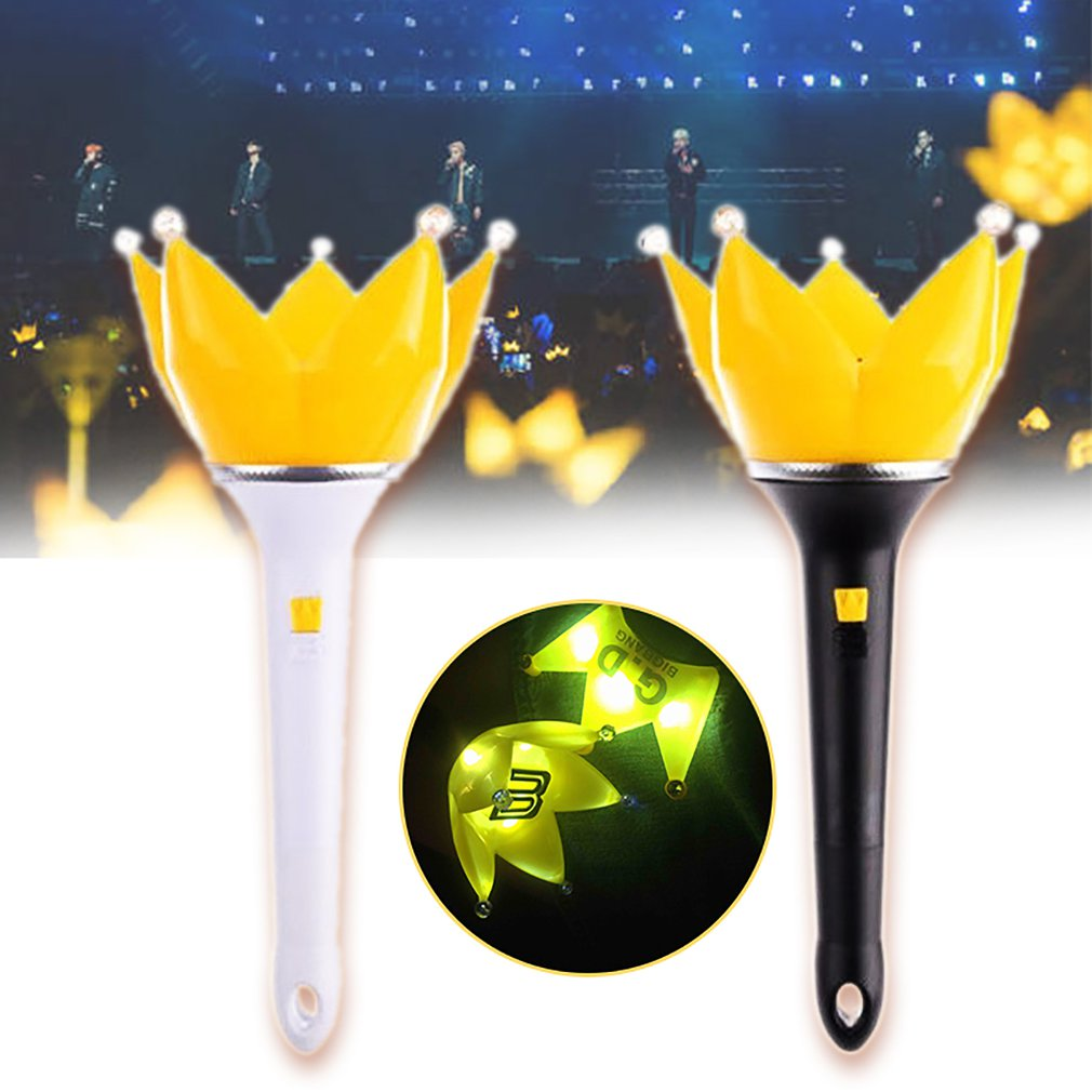 Kpop Bigbang EXO GD G-Dragon VIP Concert Light Stick Crown Lotus Lightstick Prop