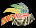 "16'17'18"" Motorcycle Styling Wheel Hub Rim Stripe Reflective Decal Stickers For BMW GS YAMAHA HONDA, ZCF-452"
