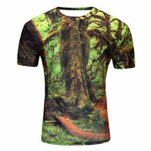 Feature fearless New 3D t-shirts prints Big tree / apple/weird pattern t shirt Harajuku 3D tshirt Short Sleeve t shirt Summer(China)