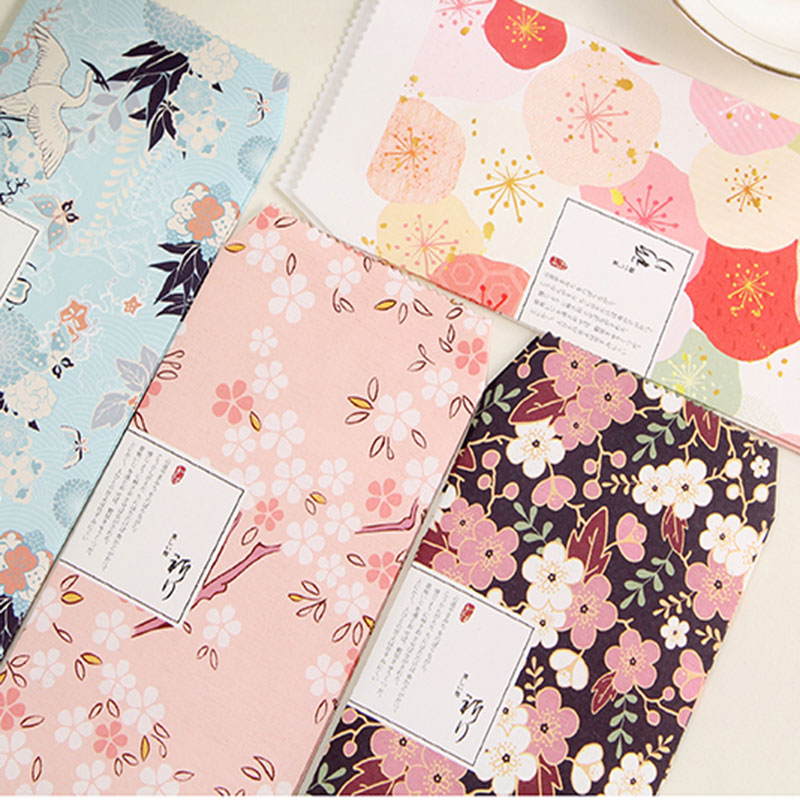 3pcs/lot Retro flowers Envelope writing paper stationery kawaii ...