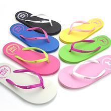 2017 Hot Summer Flip Flops zapatos de las mujeres, Moda Soft Ocio Sandalias EE. UU., Deslizador de la playa, de interior y al aire libre Sandalias flip-flops