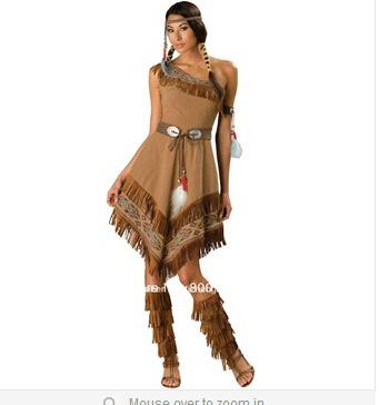 Wild Style Pocahontas Indian Dress Costume