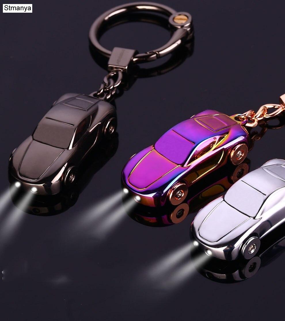 Auto Keychain-Beste Geschenk männer Metall hohe qualität Schlüsselbund Schlüssel Halter Zink-legierung Anhänger Paar Schlüssel Kette (mit Box) 17385