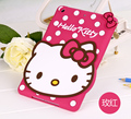 Nueva 3D Lindo Hello kitty de silicona Suave De Goma Fundas Para caja de la tableta caso de apple ipad mini 4 mini4 catton shell piel