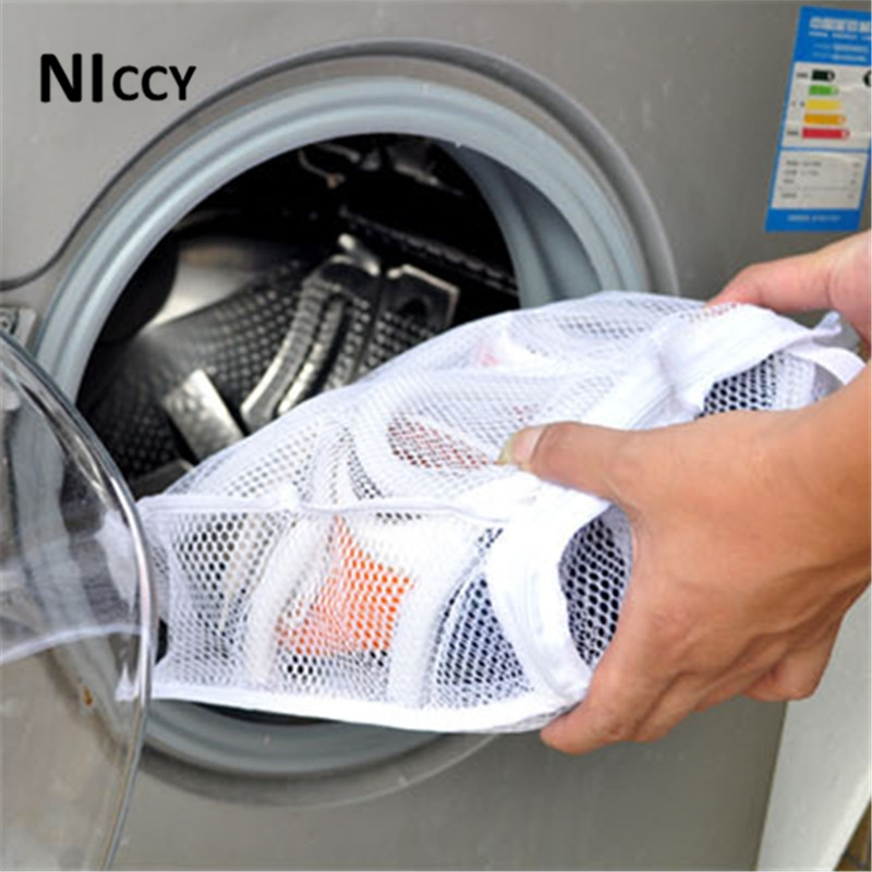 Shoes Washing Machine Laundry Bag Mesh Net Drying Storage Bags For Shoe Wash  Protective Pouch Baskets