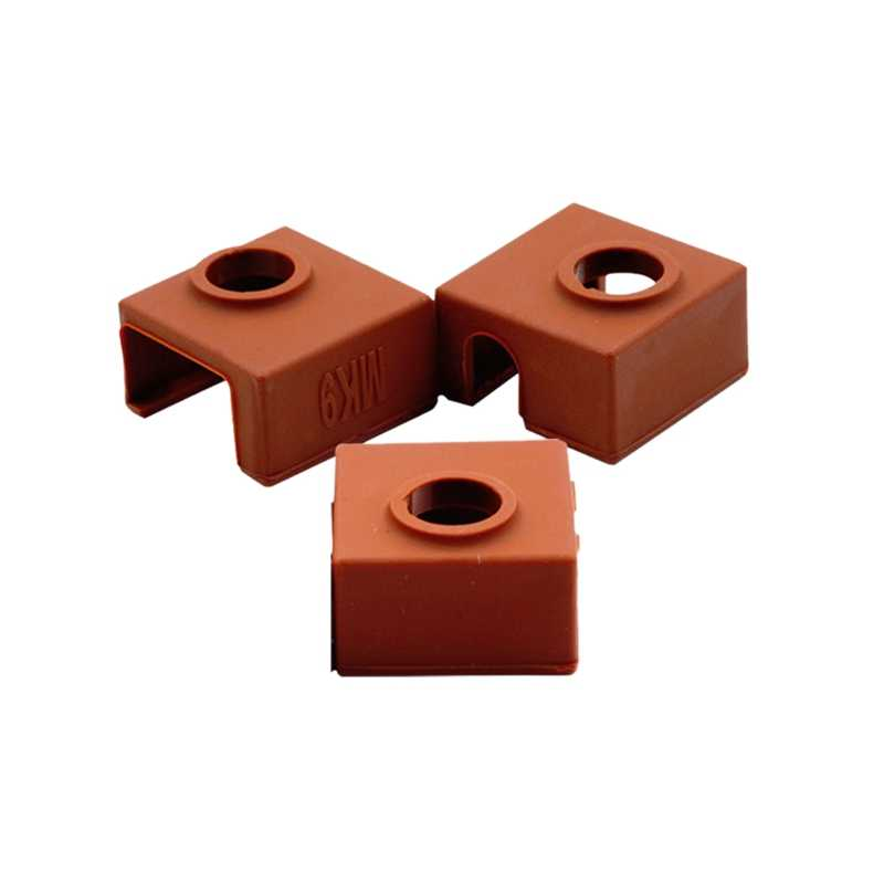 3D Printer Heater Block Silicone Cover Mk7/Mk8/Mk9 Hotend untuk Creality Cr-10, 10 S, s4, S5, Ender 3 Anet A8