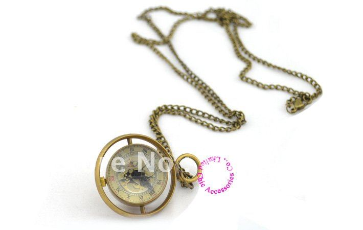 wholesale buyer price good quality girl woman lady new bronze Harry Potter spin glass ball mechanical