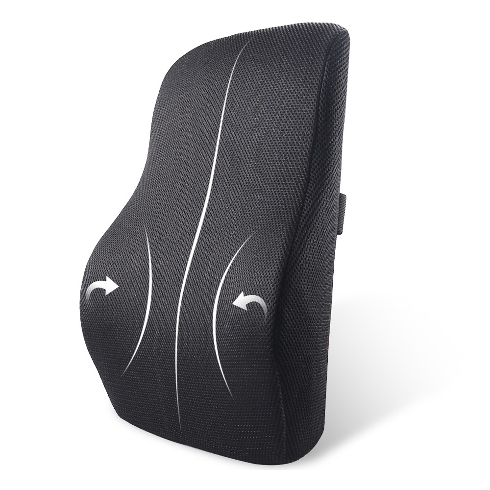 Lumbar-Pillow Back-Cushion Memory-Foam Relieves Ergonomic Sciatica 3D Mesh Pain Ventilative