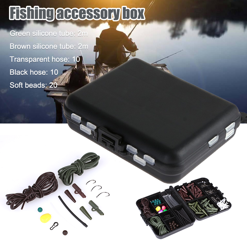 1box Fishing Accessories Hooks Tube Fishing Soft Beads Corn Kernels Shaped Pins Fishing Tackle Boxes Durable Fishing Accessories