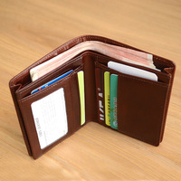 LANSPACE genuine leather men wallets designer coin purses holders large capacity purse