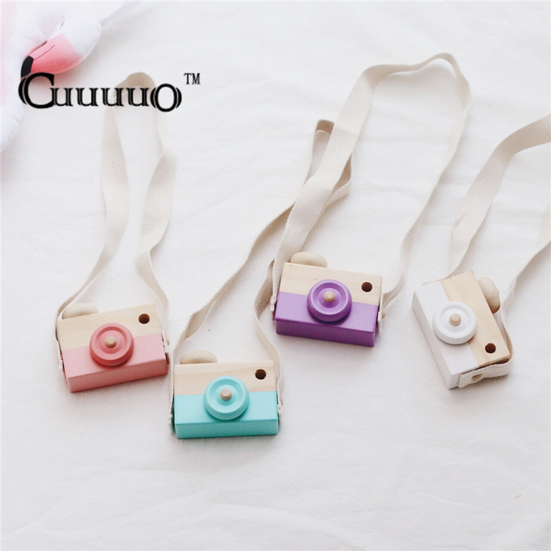 Baby Kids Cute Wood Camera Toys Children Fashion Clothing Accessory Safe And Natural Toys Birthday Christmas Gift Wholesale 10pc