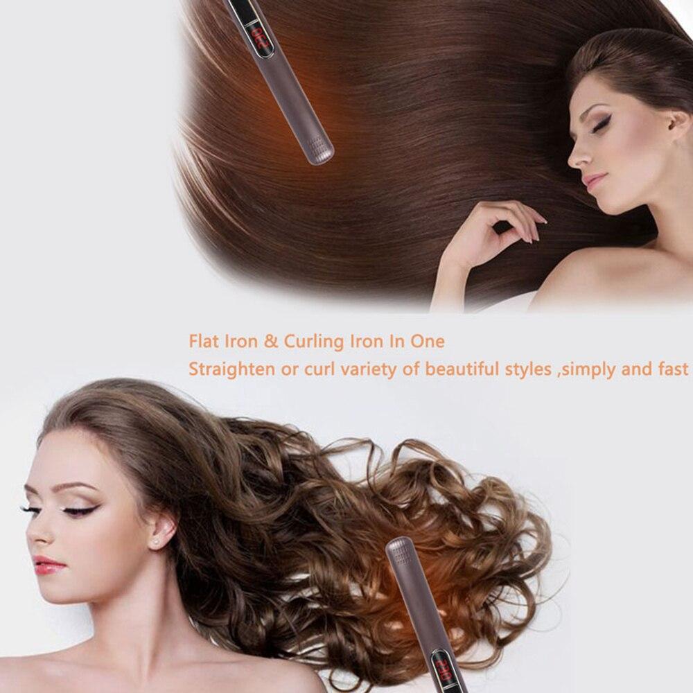 MADAMI Dual Voltage Wet Dry Hair Flat Iron Plancha Flacheisen MCH Titanium Ceramic Hair Straightener Keratin Treatment Flat Iron (6)