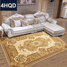 European style living room coffee table sofa carpet new Chinese handmade flower encryption thickened bedroom bed blanket