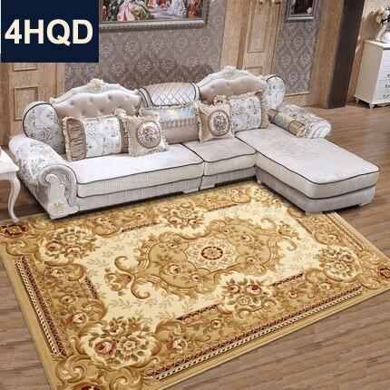 Style européen salon table basse canapé tapis nouveau chinois à la main fleur cryptage épaissi chambre lit couverture