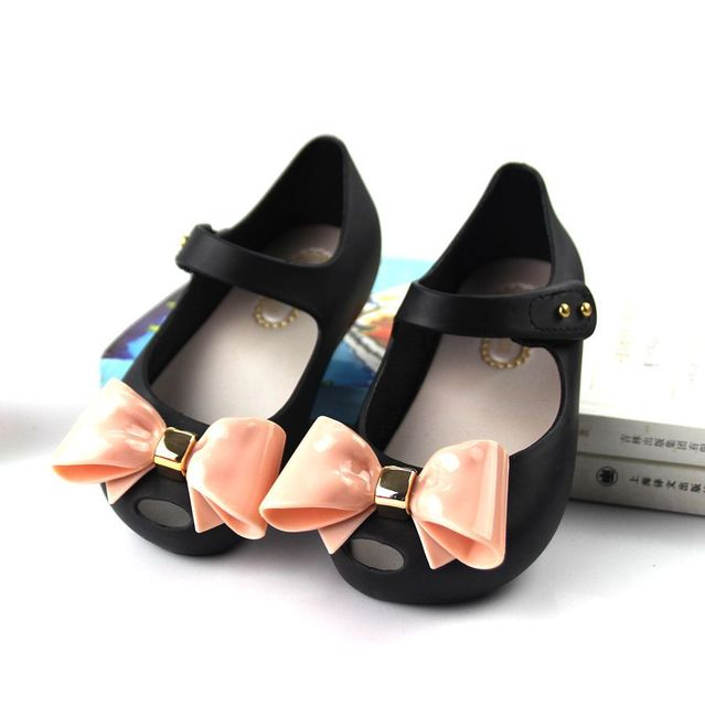Mini Melissa Brazil Girl Jelly Bow Sandals 2018 New Children Sandals Shoes  Water Shoes Beach Sandals Breathable Kids Sandals 4ced56aa6