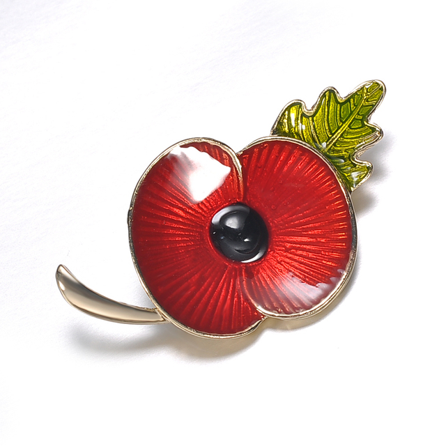 e9ec125650d New vintage Red Enamel Poppy Flower Brooch Pin Broach for women men Badge  Banquet Remembrance Jewelry Accessories Free shipping
