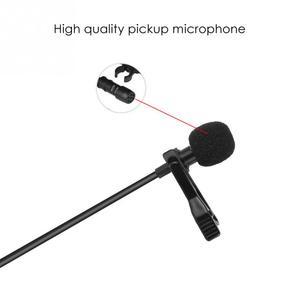 Image 4 - Micrófono portátil de solapa con Clip profesional, manos libres, Mini condensador con cable para iPhone, Samsung, Android y Windows, 3,5mm