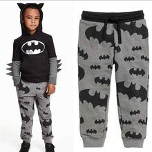 Children Boys Clothes Brand Cartoon Batman Pants Casual 100%