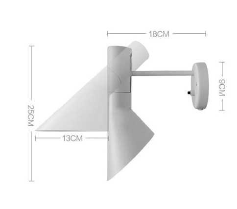 Современный белый настенный светильник креативный настенный светильник бра E14 Arne Jacobsen классические светильники Гостиная спальня столовая бра