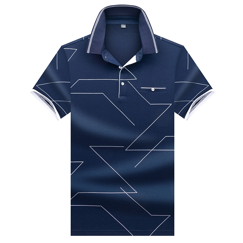ICPANS Tops&Tees Men's   Polo   shirts Business men Summer Short Sleeve   Polo   Shirts 3D embroidery Turn-down collar mens   polo   shirt