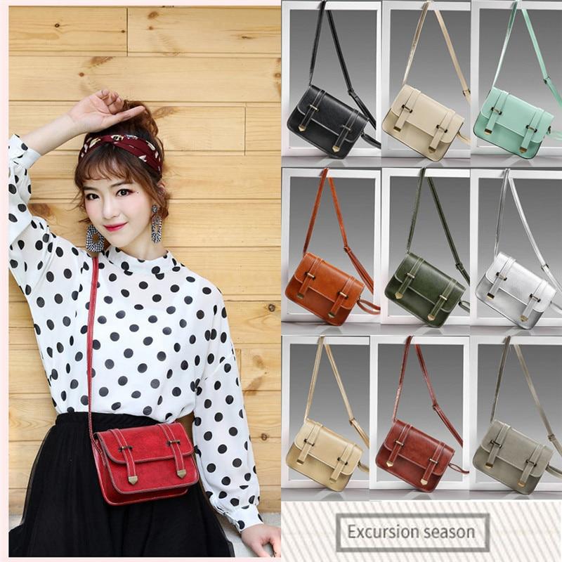 Fashion Women Vintage Mini Clamshel Messenger Cambridge Shoulder Bag 11 Colors Crossbody Bag