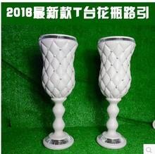 4pcs new wedding props, artificial flowers, silk flower bottle road guide plastic supplies for Roman column