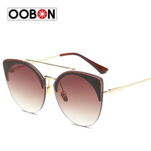 OOBON 2017 New Luxury Brand Sunglasses Women Vintage Retro Designer Fashion Sun glasses Men Cat Eye SunGlass Oculos
