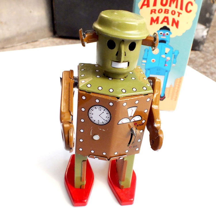 Classic Toys For Boys : Aliexpress buy retro robot wind up toys classic tin