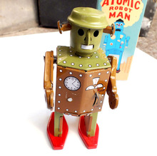 Retro Robot Wind Up Toys Classic Tin Toys For Boys Vintage Handmade Crafts
