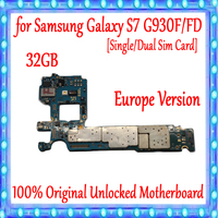 For Samsung Galaxy S7 G930F/ G930FD Motherboard Original MainBoard Unlocked With Chips OS Good Working Logic Board EU Version