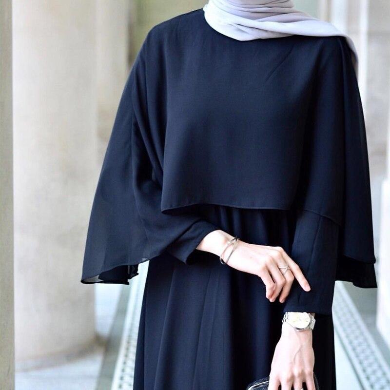 Vestidos Largos Abaya Dubai Turkey Kaftan Linen Maxi Muslim Shawl Hijab Long Dress Abayas For Women