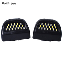 2x 18SMD LED License Plate Light Lamp Assembly Replacement For Cadillac Escalade Chevy Silverado 1500 2500 Suburban Tahoe GMC for 2007 2010 tahoe suburban 1500 2500 avalanche upper grille mesh glossy chrome new usa domestic free shipping
