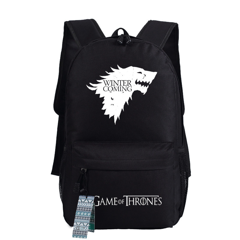 New Game Of Thrones Anime Ice And Fire Backpack Shoulder School Bag Package Cosplay 45x32x13cm