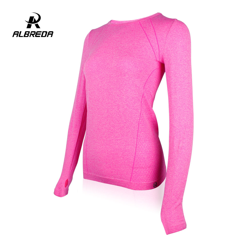 ALBREDA Yoga Shirt Women Gym Sports Fitness Women Running Clothes For Women Solid Long Sleeve Spring Autumn Base Shirt Fitness albreda yoga shirt women gym sports fitness women running clothes for women solid long sleeve spring autumn base shirt fitness