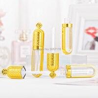 10 Вт, 30 Вт, 50 шт. пустой Золотая Корона контейнеры бальзам для губ DIY Косметический бальзам для губ. бутылка Пластик упаковки для макияжа мног...